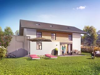 Programme immobilier neuf VILLAS LUMIERES à VILLAZ